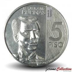 PHILIPPINES - PIECE de 5 Piso - Andres Bonifacio - 2018 Km#302