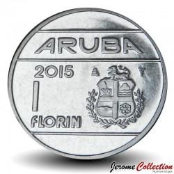 ARUBA - PIECE de 1 FLORIN - Roi Willem-Alexander des Pays-Bas - 2015 Km#56