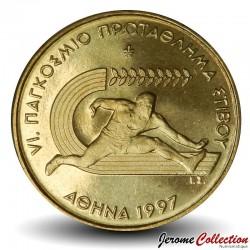 GRECE - PIECE de 100 DRACHMES - Championnat du monde d'athlétisme - Athènes - 1997