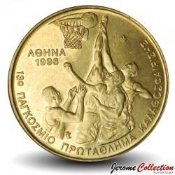 GRECE - PIECE de 100 DRACHMES - Championnat du monde de Basket-Ball - Athènes - 1998