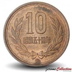 JAPON - PIECE de 10 Yen - Temple de Byōdō-in - 1981 Y#73