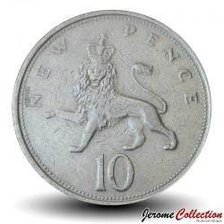 ROYAUME UNI - PIECE de 10 Nouveaux Pence - Lion - 1977 Km#912