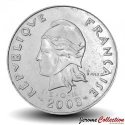 NOUVELLE CALEDONIE - PIECE de 20 Francs - Bétail - 2008