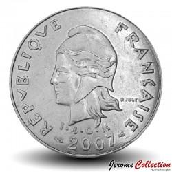 NOUVELLE CALEDONIE - PIECE de 20 Francs - Bétail - 2007