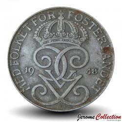 SUEDE - PIECE de 5 Ore - Gustaf V - 1948 Km#812