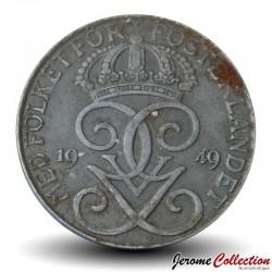 SUEDE - PIECE de 5 Ore - Gustaf V - 1949 Km#812