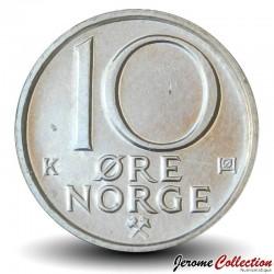 NORVEGE - PIECE de 10 Øre - Olav V - 1991