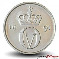 NORVEGE - PIECE de 10 Øre - Olav V - 1991 Km#416