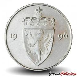 NORVEGE - PIECE de 50 Øre - Olav V - 1996 Km#418