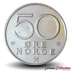 NORVEGE - PIECE de 50 Øre - Olav V - 1996
