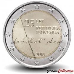SLOVENIE - PIECE de 2 Euro - 25 ans de l'indépendance de la Slovénie - 2016 Km#126
