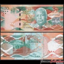 BARBADE - Billet de 50 Dollars - 50 ans de l'indépendance - Errol Barrow - 2016 P79a