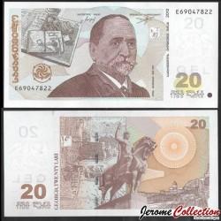 GEORGIE - Billet de 20 Lari - Ilya Chavchavadze - 2013 P72d