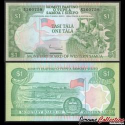SAMOA - BILLET de 1 Tala - Tisserands - 1980 P19a