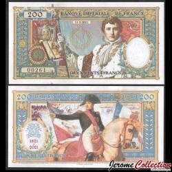 EMPIRE FRANCAIS - Billet de 200 Francs - Bicentenaire NAPOLEON - 2021 00200