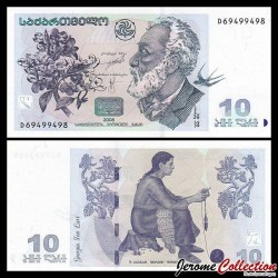 GEORGIE - Billet de 10 Lari - Akaki Tsereteli - 2008 P71c