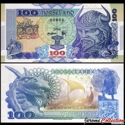 NORSELAND - Billet de 100 Kroner - Viking - 2016