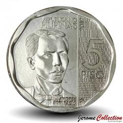 PHILIPPINES - PIECE de 5 Piso - Andres Bonifacio - 2019 Km#302