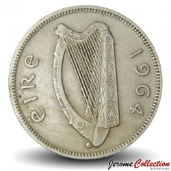 IRLANDE - PIECE de 1 Flóirin / 2 Schilling - Saumon - 1964