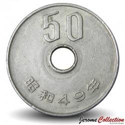 JAPON - PIECE de 50 Yen - Chrysanthèmes - 1974