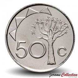 NAMIBIE - PIECE de 50 Cents - Arbre Aloe dichotoma - 2010 Km#3