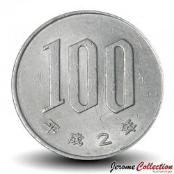 JAPON - PIECE de 100 Yen - Fleurs du cerisier du Japon - 1990