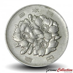 JAPON - PIECE de 100 Yen - Fleurs du cerisier du Japon - 1990 Y#98
