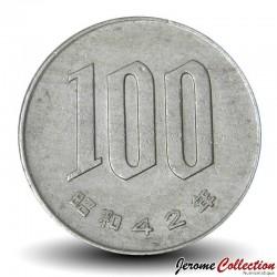 JAPON - PIECE de 100 Yen - Fleurs du cerisier du Japon - 1967 Y#82