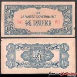 Birmanie (Gouvernement Japonais) - Billet de ¼ Rupee - 1942 P12a