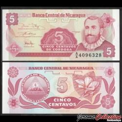 NICARAGUA - Billet de 5 Centavos de Córdoba - 1991 P168a1