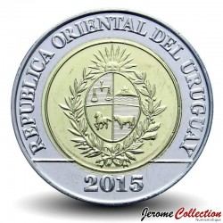 URUGUAY - PIECE de 10 Pesos - Bicentenaire del Reglamento de Tierras de 1815 - 2015