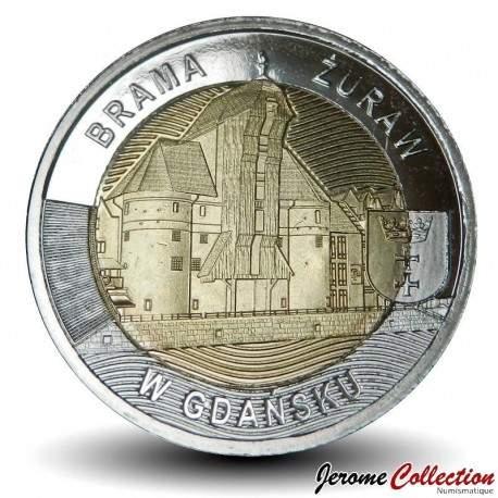 POLOGNE - PIECE de 5 ZLOTE - Grue médiévale de Gdańsk - 2021 Y#new