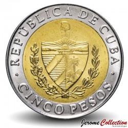 CUBA - PIECE de 5 Pesos - Antonio Maceo - Bimétal - 2016