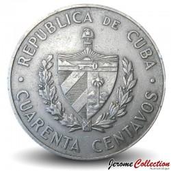 CUBA - PIECE de 25 CENTAVOS - Camilo Cienfuegos Gornaran - 1962
