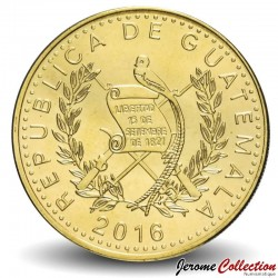 GUATEMALA - PIECE de 10 Centavos - Colombe de la paix stylisée - 2016