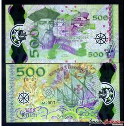 PORTUGAL / INDIA PORTUGUESA - Billet de 500 Escudos - Vasco de Gama - Polymer - 2017 0500