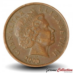 GIBRALTAR - PIECE de 1 Penny - Perdrix Gamba - 2000