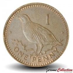 GIBRALTAR - PIECE de 1 Penny - Perdrix Gamba - 2000 Km#773