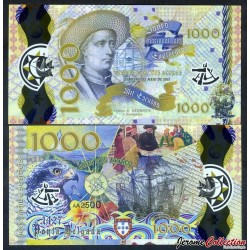 PORTUGAL / ARQUIPELAGO DOS ACORES - Billet de 1000 Escudos - Henri le Navigateur - Polymer - 2017