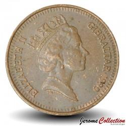 GIBRALTAR - PIECE de 1 Penny - Perdrix Gamba - 1990