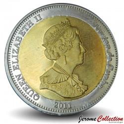 NIGHTINGALE ISLAND / TRISTAN DA CUNHA - PIECE de 25 Pence - Deux dorades coryphène - 2011