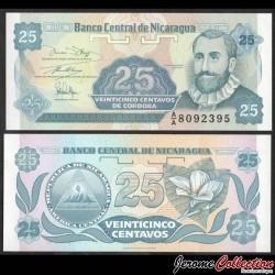 NICARAGUA - Billet de 25 Centavos de Córdoba - 1991 P170a1
