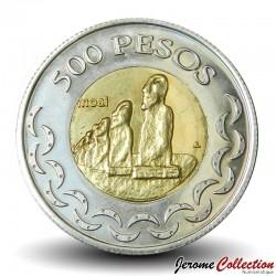 ILE DE PAQUE / RAPA NUI - PIECE de 500 Pesos - Statues Moaï - 2007 X#7