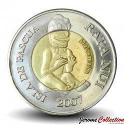 ILE DE PAQUE / RAPA NUI - PIECE de 500 Pesos - Statues Moaï - 2007