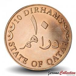 QATAR - PIECE de 10 Dirhams - 2012 Km#13a