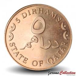 QATAR - PIECE de 5 Dirhams - 2012 Km#12a