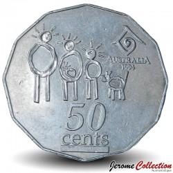 AUSTRALIE - PIECE de 50 Cents - Année internationale de la famille - 1994 Km#257