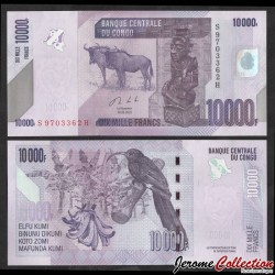CONGO - BILLET de 10000 Francs - Buffles - 2020 P103c