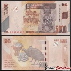 CONGO - BILLET de 5000 Francs - Zébres - 2020 P102c