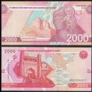 OUZBEKISTAN - Billet de 2000 Som - La citadelle Ark - 2021